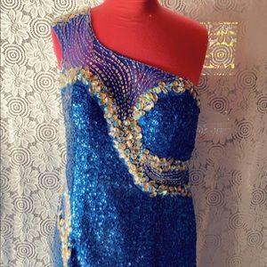 Sequins evening dress